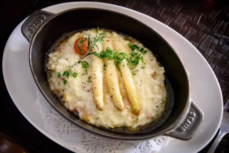 La P'tite Cocotte, where to eat in Old Nice - Asparagus Risotto