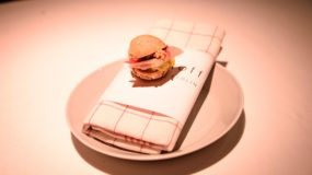 Restaurant Reinstoff Berlin - A tiny fish sandwich!