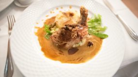 French restaurant in Munich – Guinea fowl