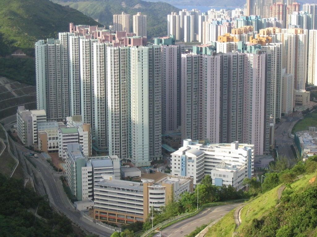 Les mini-appartements de Hong Kong - Photo libre de droits