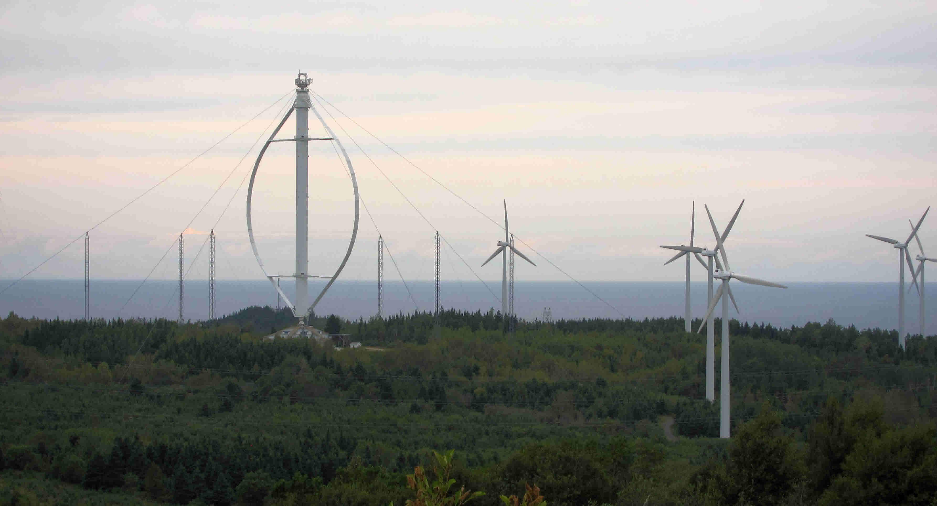 Les éoliennes à Cap-Chat - Photo libre de droits