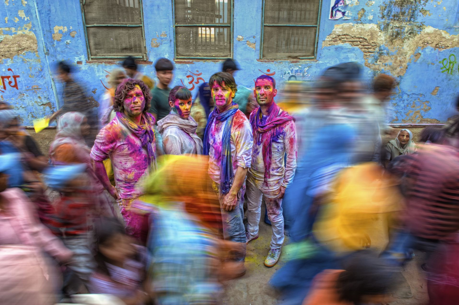 """Holi festival is a traditional Hindu party that celebrates """"the win of the forces of good over the forces of evil"""". #india"""