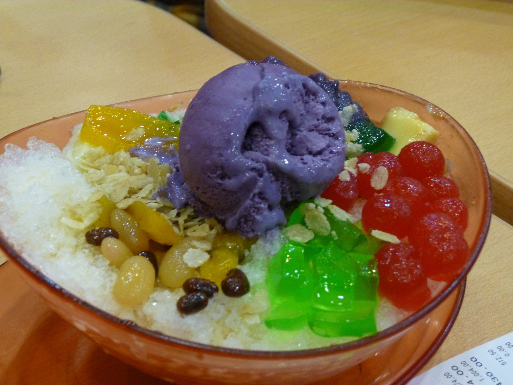 Andrew Zimmern Delicious Destinations Manila -Delicious mixed fruits, beans, tapioca pearls, coconut gel, crushed ice and ice cream