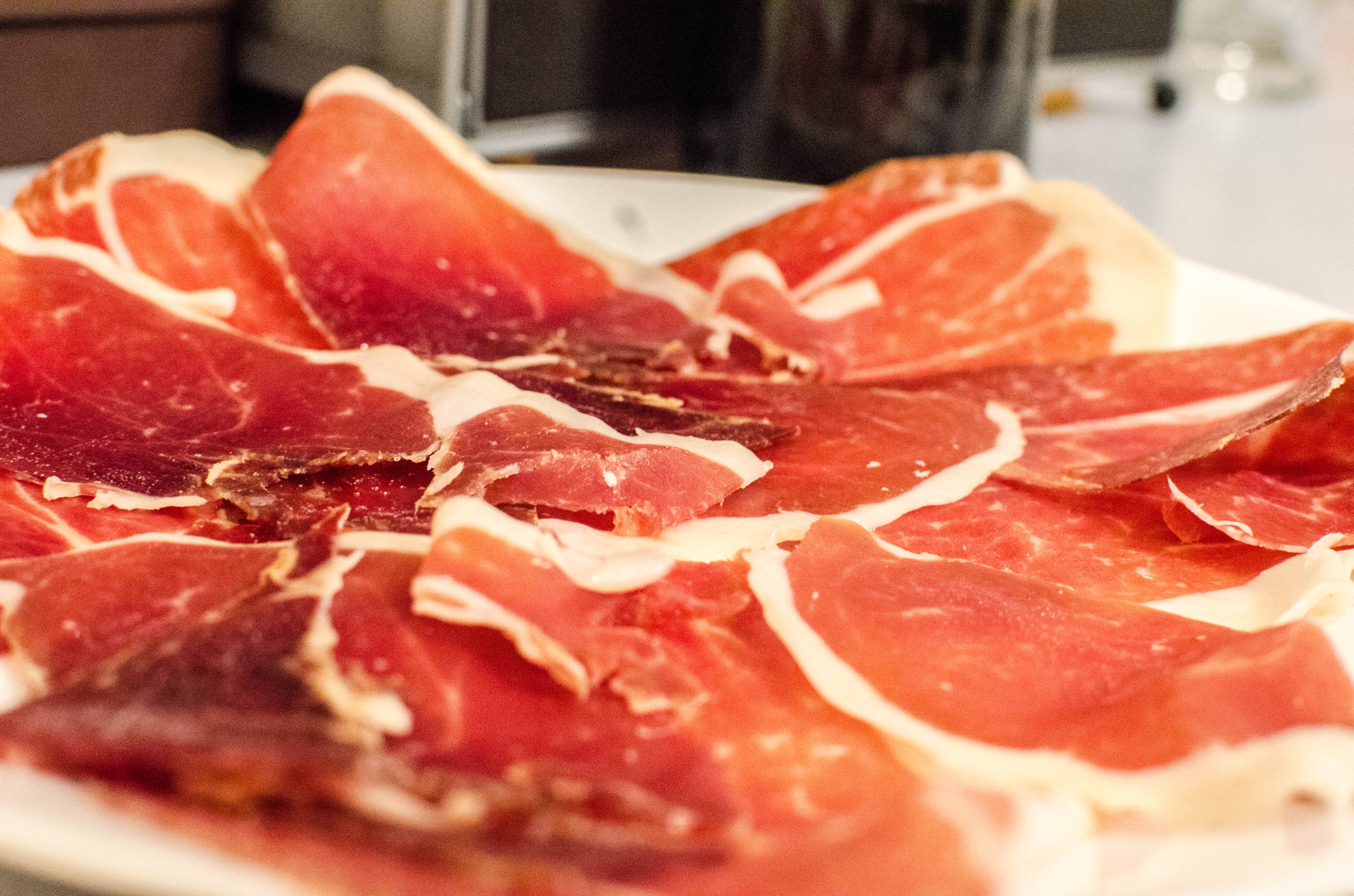 Delicious Destinations Barcelona - Thin cuts of ham from Iberian pig meat