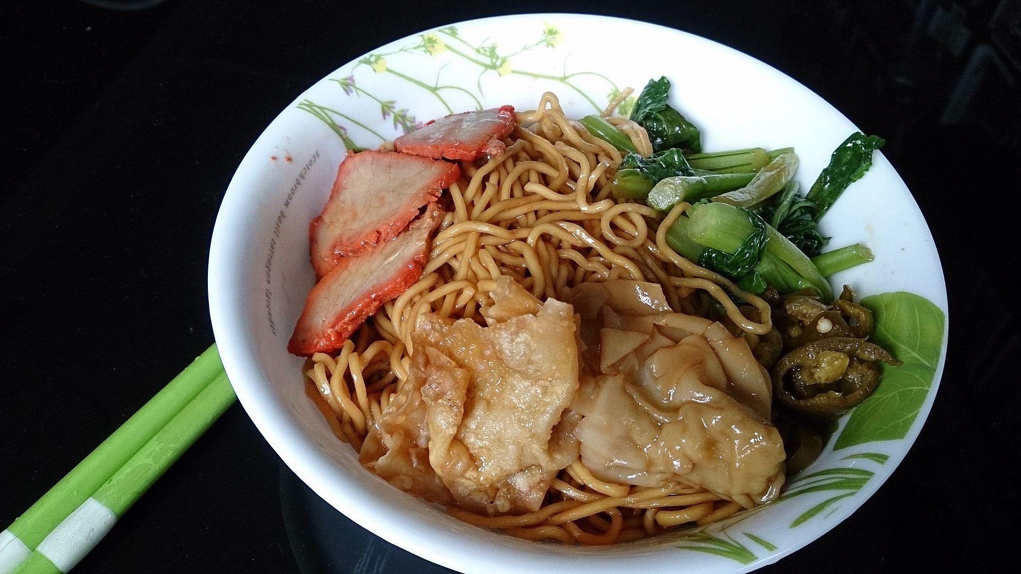 A special chinese wanton noodles