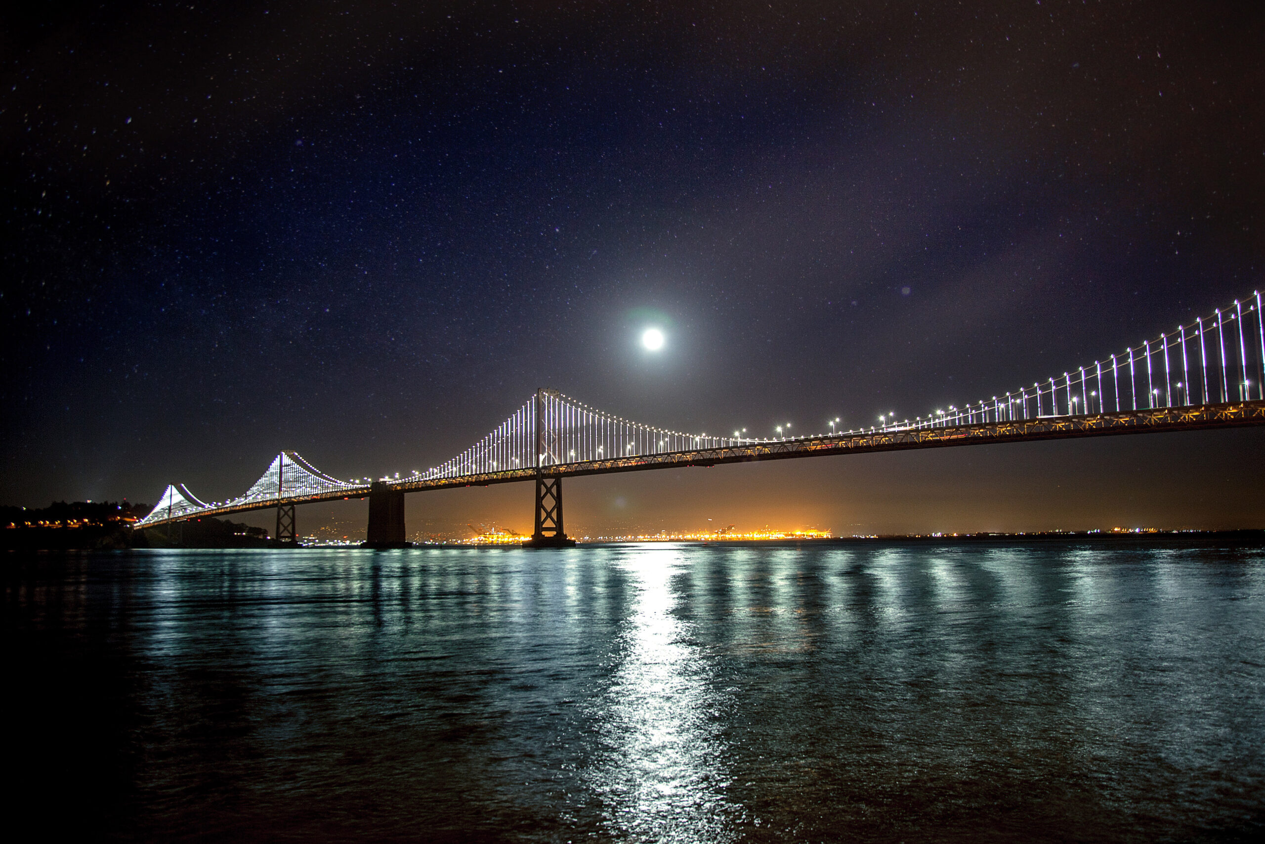 The Oakland San Francisco Bay Bridge