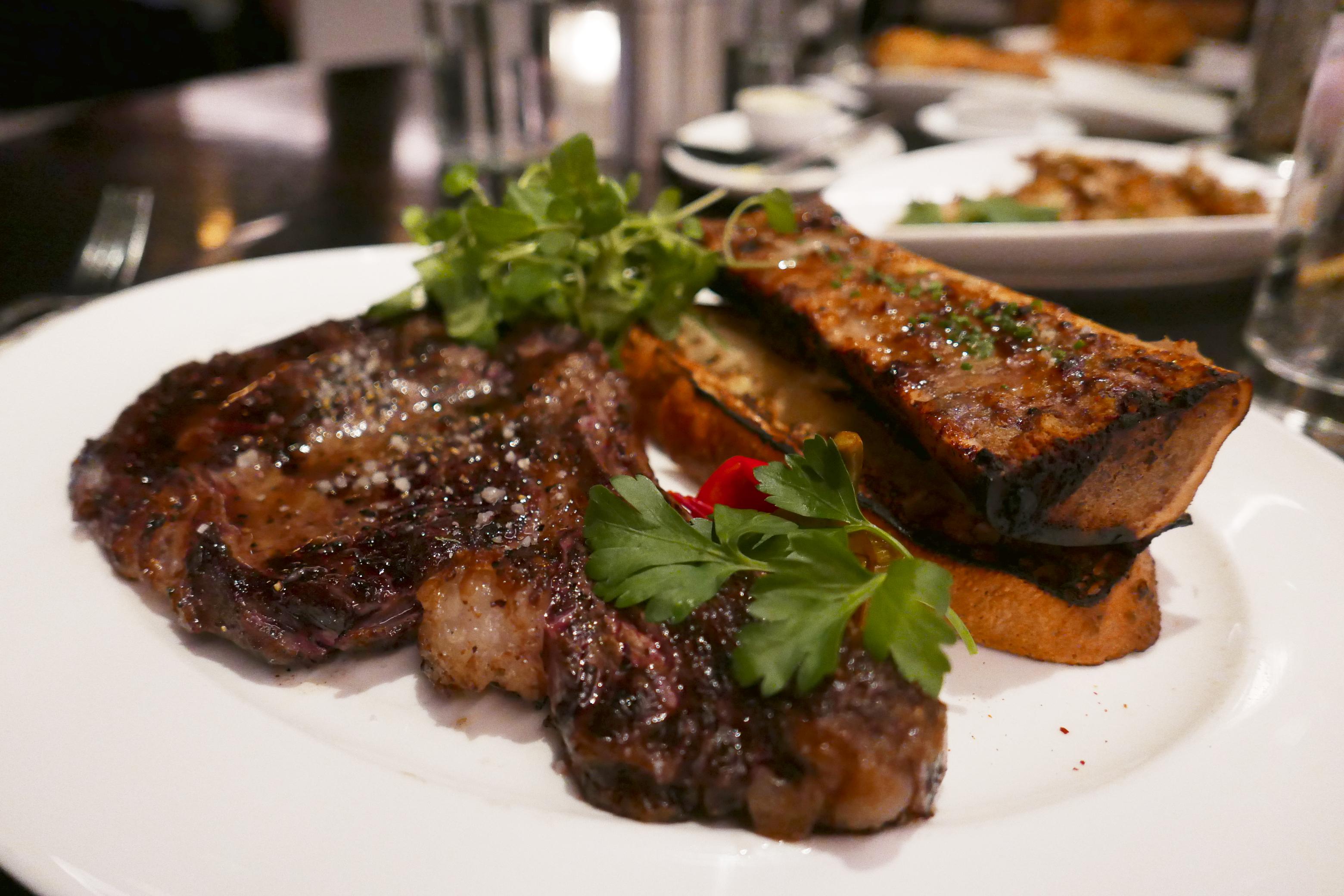 Delicious Destinations Las Vegas - Wagyu beef steak with bone marrow