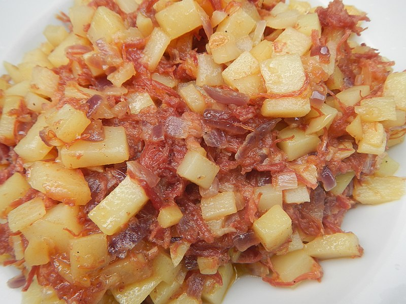 Corned Beef Hash - photo by Judgefloro under CC-Zero