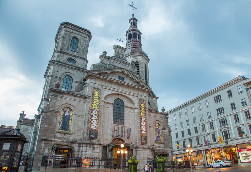 Cathedral-Basilica of Notre-Dame de Québec - photo by Tony Webster under CC BY 2.0