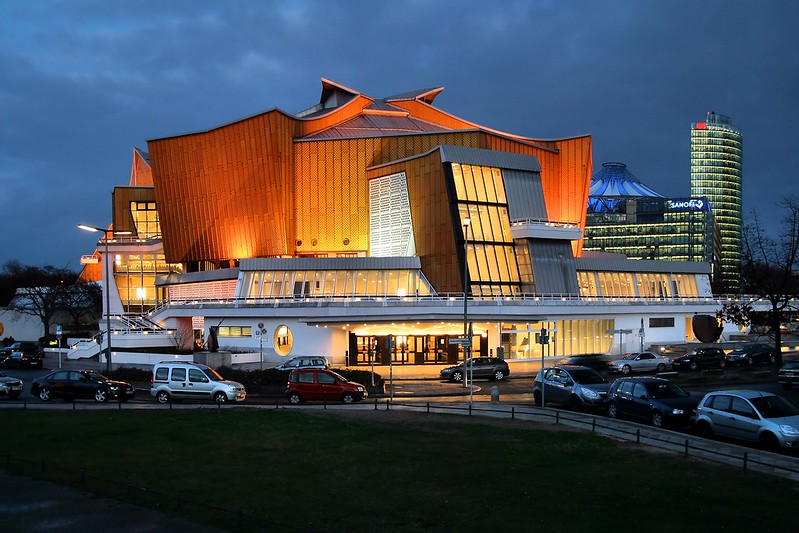 Berliner Philharmonie, home of the Berliner Philharmoniker - photo by Jorge Franganillo under CC BY 2.0