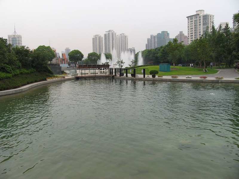 Taipingqiao Park across Xintiandi Style Shopping Centre - photo by Brian Brake under CC BY-SA 2.0