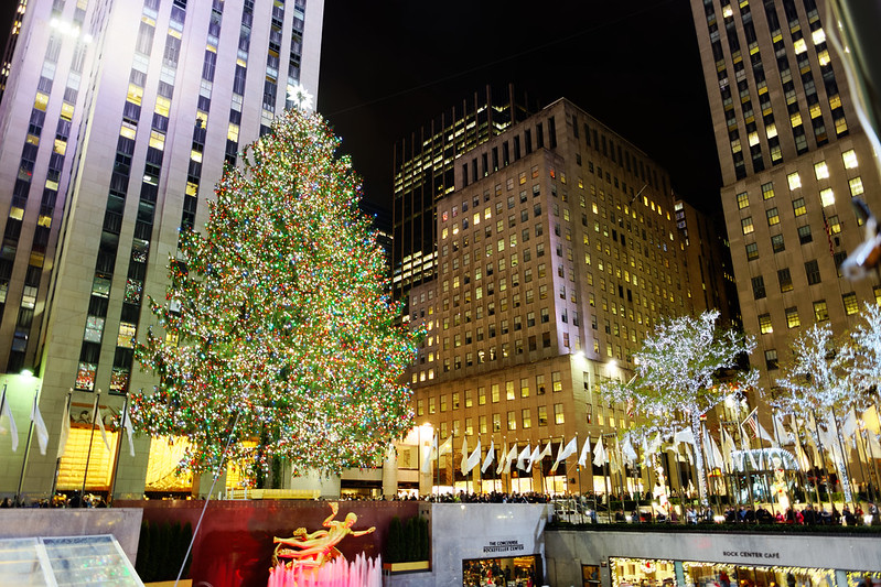 The Rockefeller Center Christmas Tree - photo by Michael Vadon under CC BY 2.0
