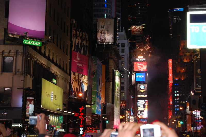 New Year's Eve at Times Square, New York City - photo by Chris Amelung under CC BY 2.0