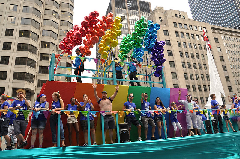 Pride Week parade in Montreal - photo by Fierté Montréal under CC BY 2.0