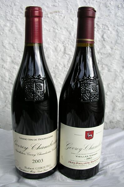 Anthony Bourdain Burgundy - Bottles of Burgundy Wine - photo by Limegreen at English Wikipedia under CC BY-SA 3.0