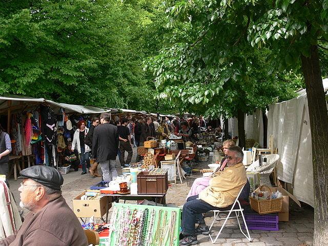 Flea Market at Arkonaplatz - photo by Andreas Praefcke under CC-BY-3.0