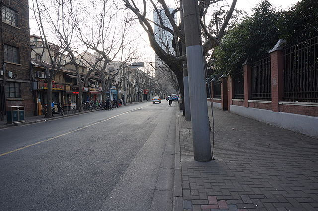 Changle Road in Shanghai - photo by Livelikerw under CC-BY-SA-3.0