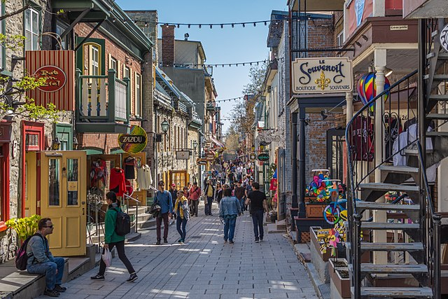free things to do in Quebec - Quartier Petit Champlain - photo by The Photographer under CC-BY-SA-4.0