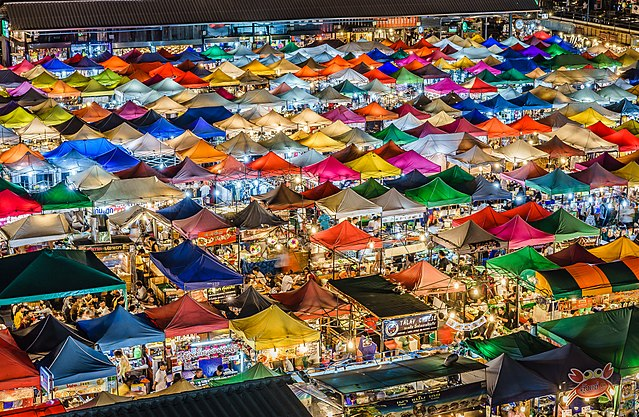 free things to do in Bangkok - The Ratchada Train Night Market in Bangkok - photo by aotaro under CC-BY-2.0