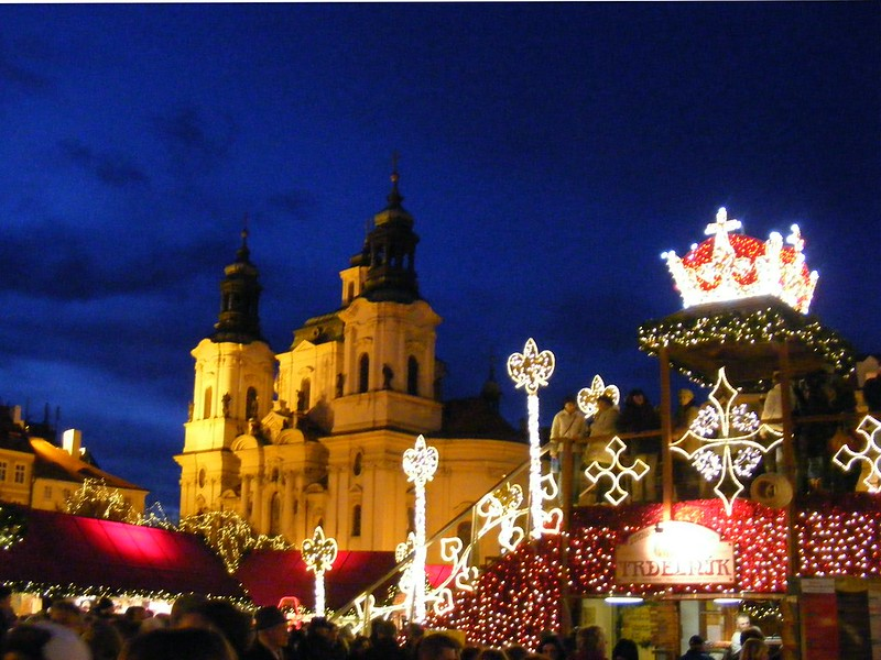 Christmas Market at Old Town Square in Prague - photo by John W. Schulze under CC BY 2.0
