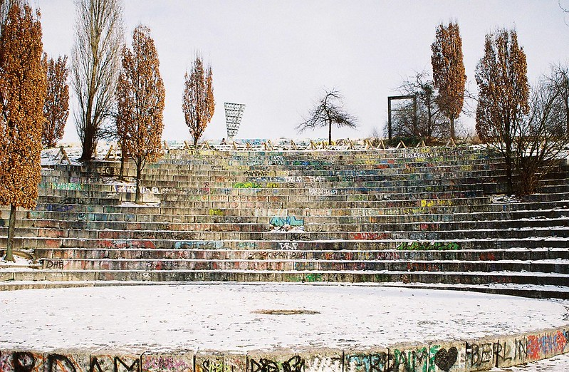 amphitheater at Mauerpark in Berlin - photo by k_tjaaa under CC BY 2.0