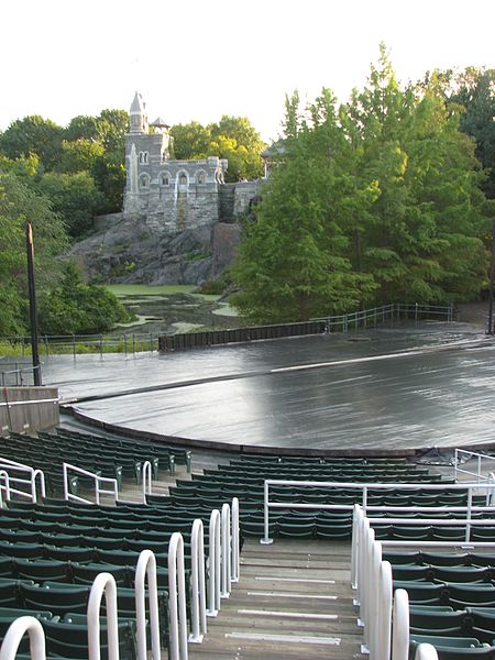The Delacorte_Theater at Central Park - photo by Lazy Bastards under CC-BY-SA-3.0