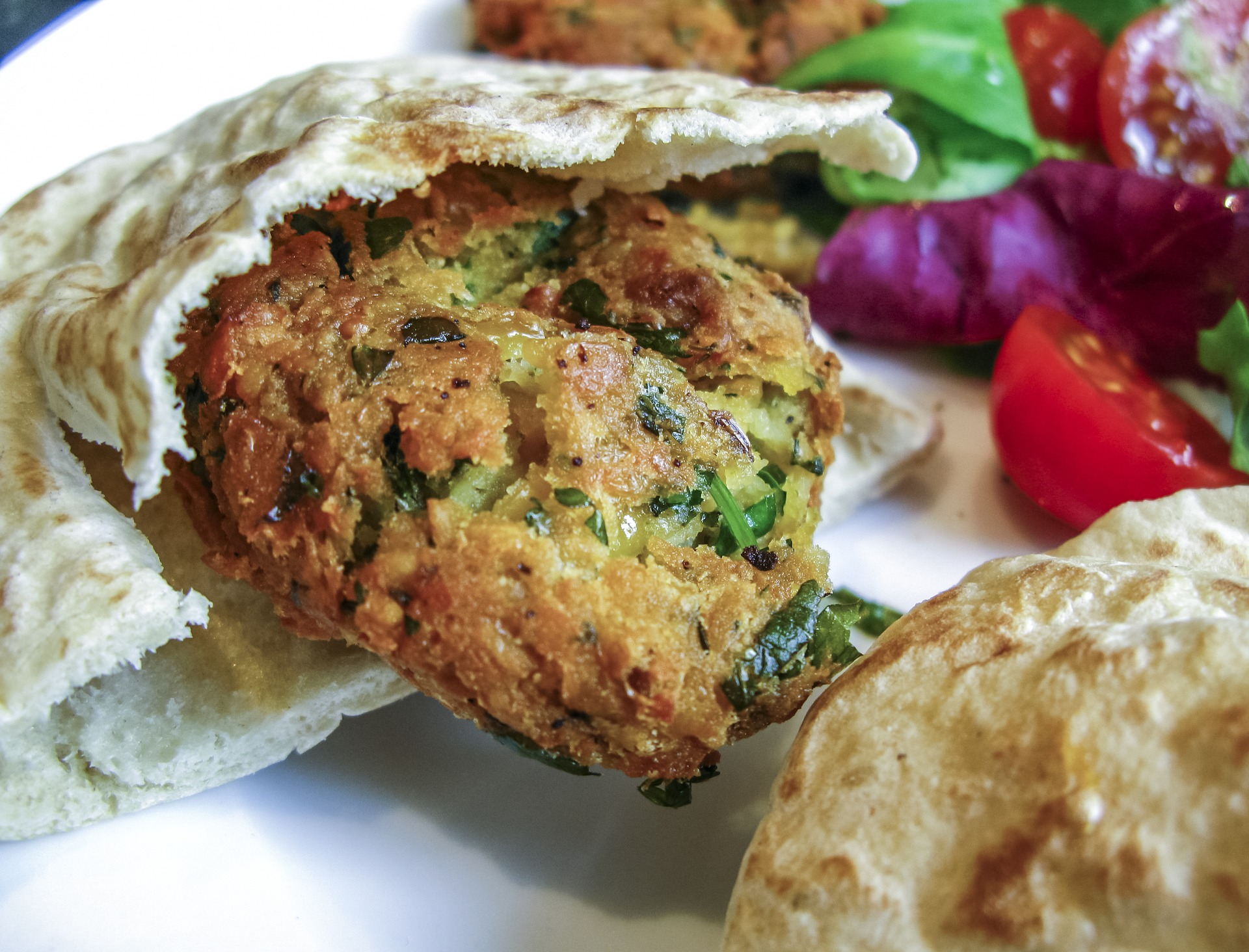 Falafel photo by Riopix Pixabay License Free for commercial use.No attribution required.