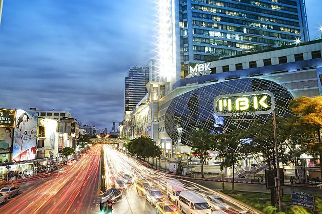 MBK Center at Pathum Wan intersection in Bangkok - photo by Pixabay user picaidol under Pixabay License