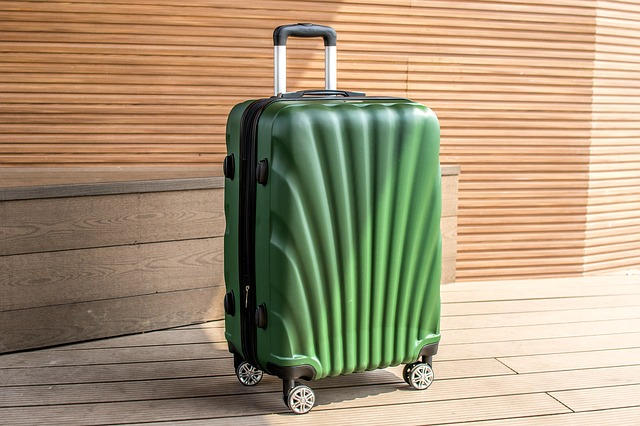 hard-shell wheeled suitcase - photo by huynhdatstc under Pixabay License