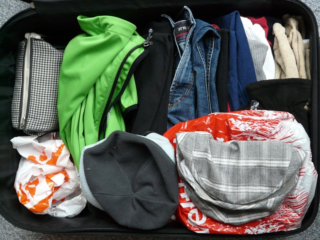 travel with hand luggage only - avoid bringing your entire wardrobe with you - photo by Max Pixel under CC0 Public Domain