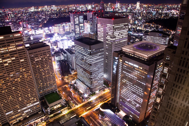 free things to do in Tokyo - View from Tokyo Metropolitan Government Building North Observation Deck - photo by Kenneth Lu under CC BY 2.0