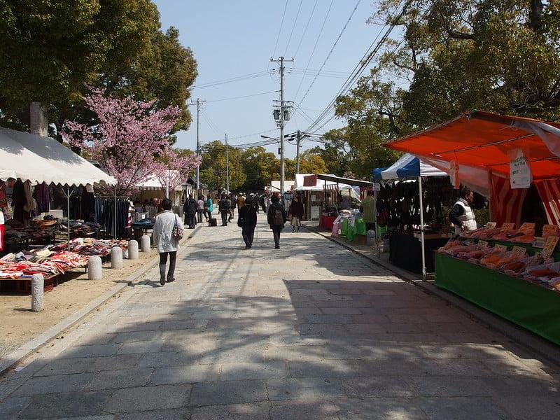 Shitennoji Flea Market - photo by Guilhem Vellut under CC BY 2.0