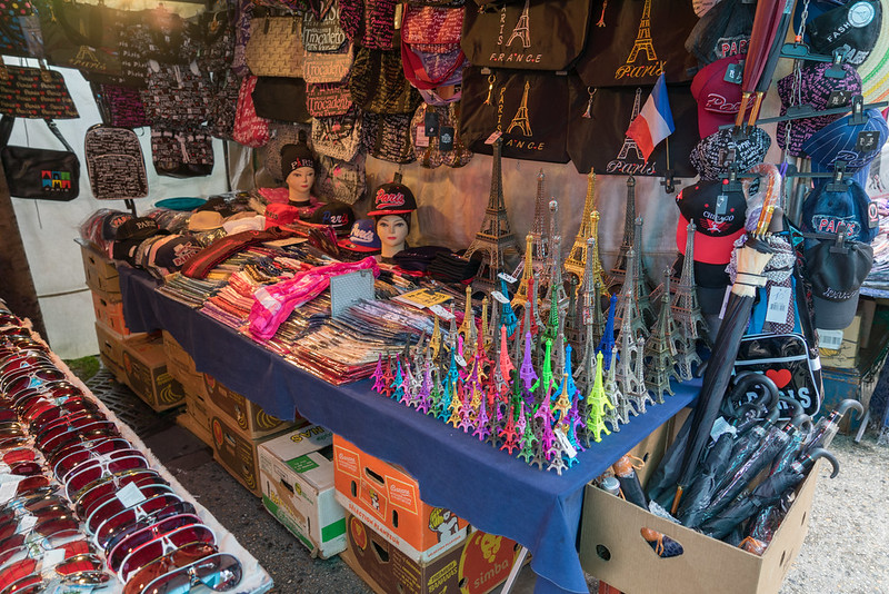 best shopping Paris - some of the merchandise sold at Marché Vernaison - photo by Edsel Little under CC BY-SA 2.0