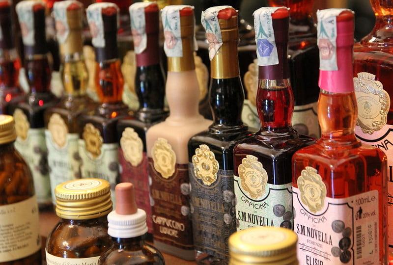 products sold at Officina Profumo Farmaceutica di Santa Maria Novella - photo by Roving-Aye! under CC BY-SA 2.0