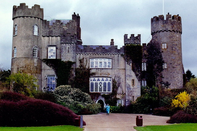 historical sites in Dublin - Malahide Castle - photo by Joseph Mischyshyn under CC BY-SA 2.0