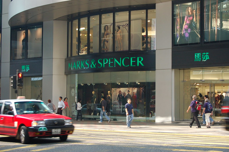 Marks & Spencer at 8 Queen's Road in Central Hong Kong - photo by Rob Young under CC BY 2.0