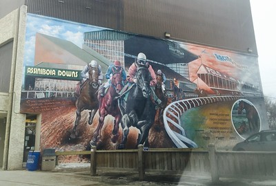 free things to do in Winnipeg - a mural at Assiniboia Downs - photo by Joanna Poe under CC BY-SA 2.0