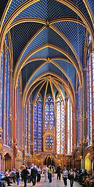 Sainte-Chapelle - Upper Chapel, Paris, France - photo by Didier B (Sam67fr) under CC-BY-SA-2.5