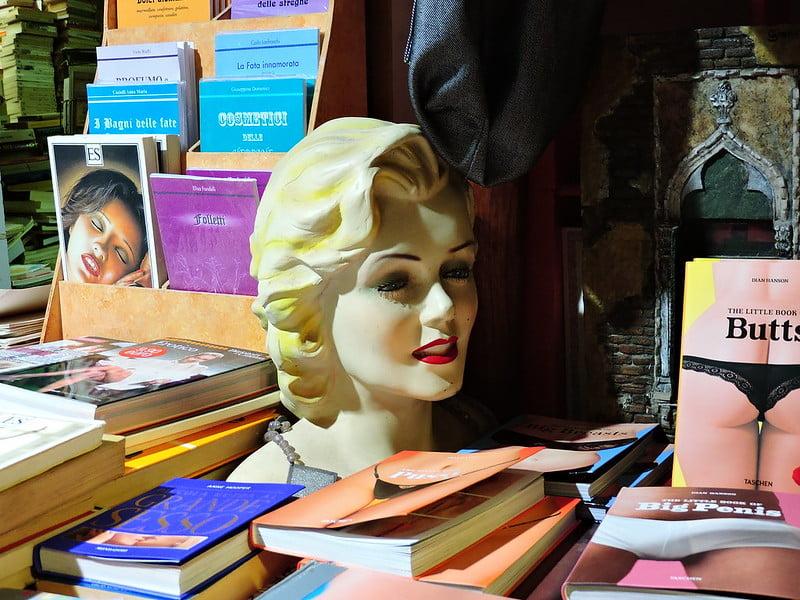 Libreria Acqua Alta, Venice - photo by Dimitris Kamaras under CC BY 2.0