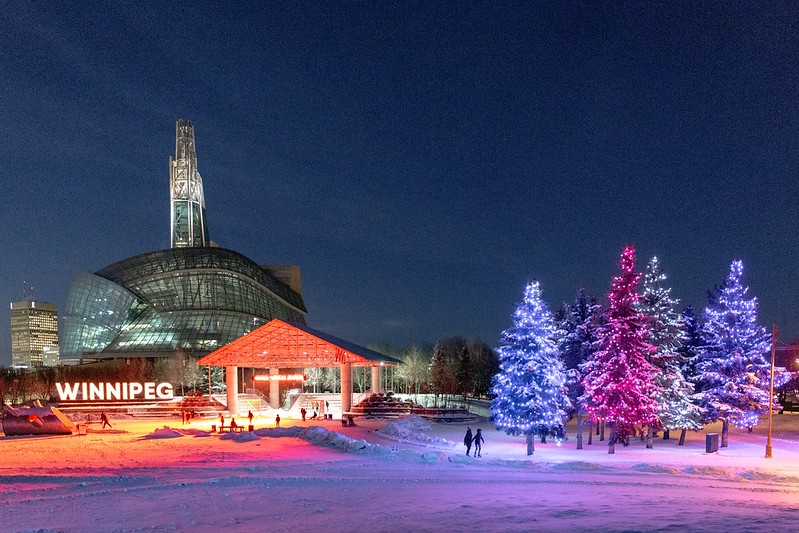 Skaters on the trail at the Arctic Glacier Winter Park at The Forks, Winnipeg, Canada - photo by Lorie Shaull under CC BY-SA 2.0