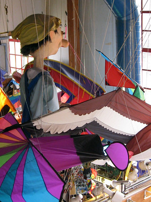 merchandise sold at Kites & Puppets at Kids Market - photo by CC BY 2.0