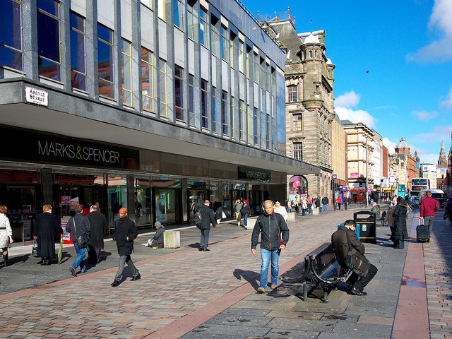 best shopping in Glasgow - Argyle Street in Glasgow - photo by Rossographer  under CC BY-SA 2.0