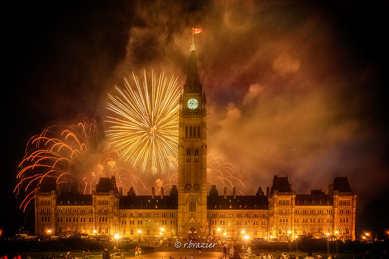 Canada Day Fireworks at Parliament Hill - photo by Rod Brazier under CC BY-ND 2.0