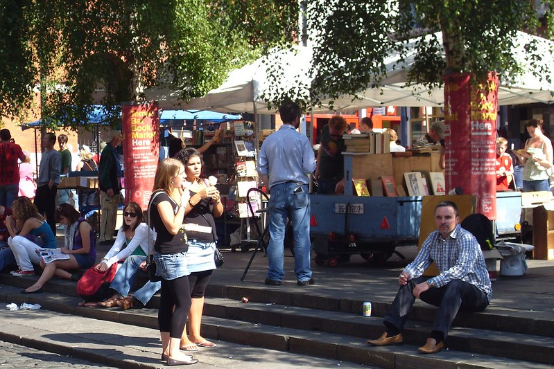 Temple Bar Book Market - photo by Barnacles Budget Accommodation under CC BY 2.0