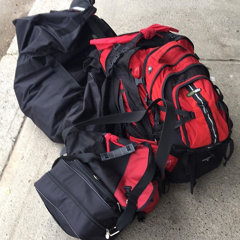 carry on luggage rules - traveling light is definitely an advantage - photo by Stephen Dann under CC BY-SA 2.0