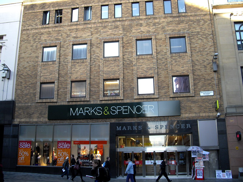 best shopping in Glasgow - Marks & Spencer on Sauchiehall Street in Glasgow - photo by EG Focus under CC BY 2.0