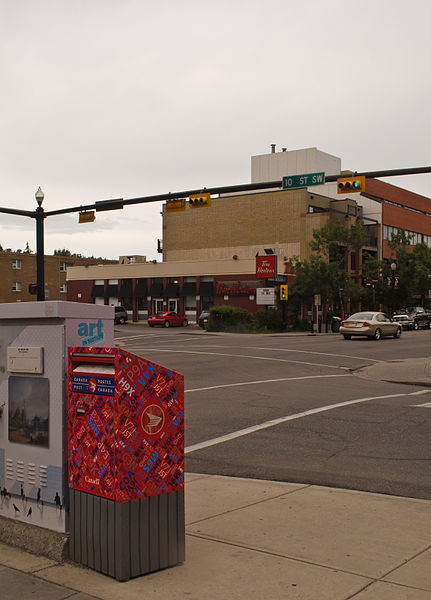 best shopping in Calgary - A portion of 17th Avenue SW in Calgary - photo by InSapphoWeTrust from Los Angeles, California, USA under CC-BY-SA-2.0