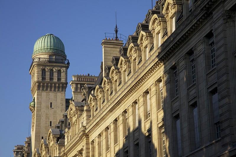 historical sites in Paris - Observatoire de la Sorbonne - photo by Jean-Marie Hullot under CC BY-SA 2.0