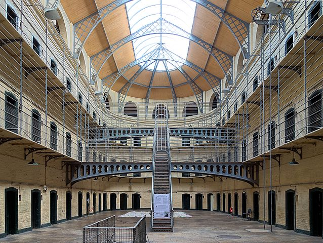 Victorian wing of Kilmainham Gaol in Dublin - photo by Velvet under CC-BY-SA-3.0
