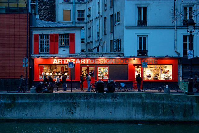 best shopping in paris - Artazart Design Bookstore - photo by Alexander Baxevanis from London, UK under CC-BY-2.0